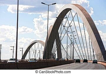 parati - juscelino kubitschek bridge of Brasilia city ...