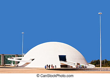 parati - The Metropolitan Cathedral of Brasilia city capital...