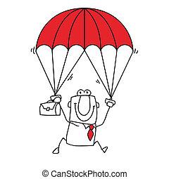 paratrooper businessman