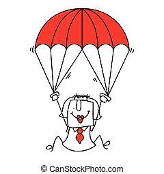 paratrooper businesswoman