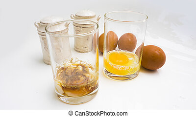 Parboiled egg and kitchen equipment