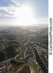 parc, aérien, méridional, newbury, californie