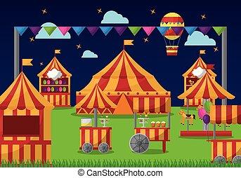 parc, carnaval, amusement