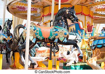 parc, carrousel, amusement