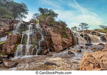 parc, chute eau, awash, ethiopie, national
