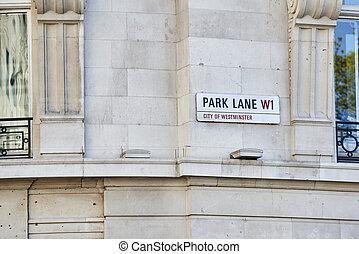 parc, couloir, signe