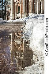 parc, dégel ressort, palais
