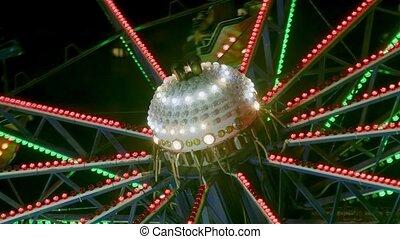 parc, détail, amusment, carrousel