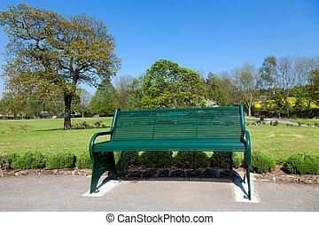 parc, dans, les, ciry, yorkshire, royaume-uni