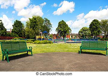 parc, dans ville