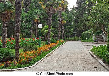 parc, exemple, design.