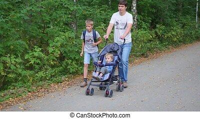 parc, famille, promenades