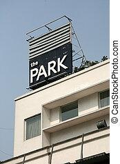 parc, hôtel, -, rue, kolkata, inde