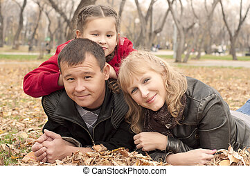parc, jeune famille