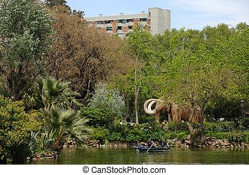 parc, la, de, ciutadella, barcelona, españa