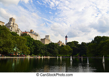 parc, manhattan, central, york, nouveau