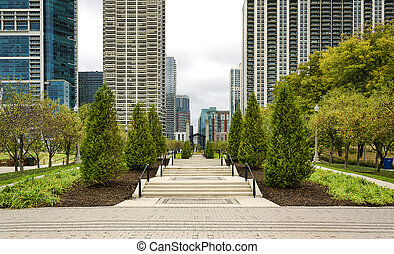 parc, millénaire, chicago