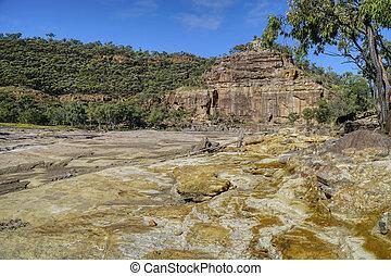 parc national, porc-épic, gorge;, queensland, australie ...