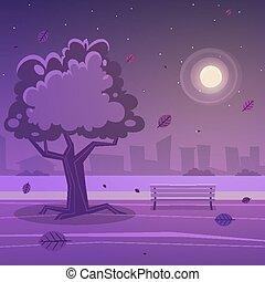 parc, nuit