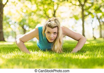 parc, poussée, crise, augmente, blond