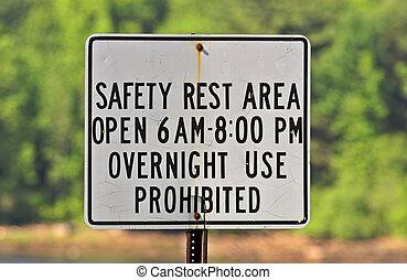 parc, sécurité, signe