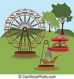 parc, thème, conception