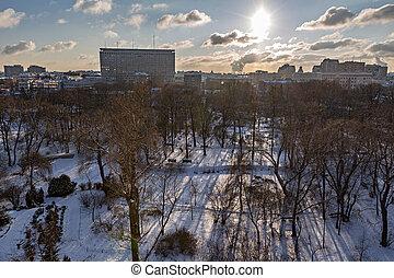 parc ville, hiver