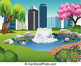 parc ville, illustration