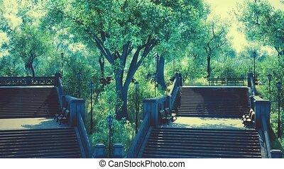 parc ville, paisible