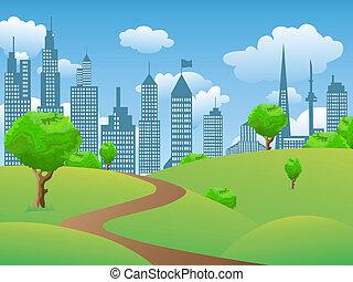parc ville, paysage