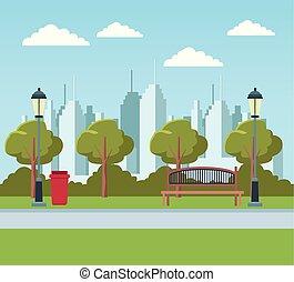 parc ville, vide