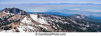 parc, wildfires, volcanique, nord, couverture, sacramento, ...