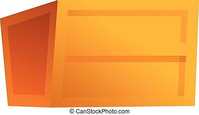 Parcel box icon, cartoon style