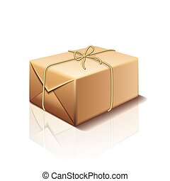 Parcel box isolated on white vector