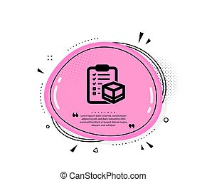 Parcel checklist icon. Logistics check. Vector