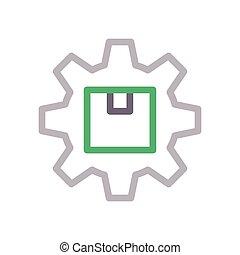 parcel  color line icon