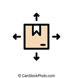 parcel flat color icon