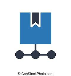 parcel glyph color icon