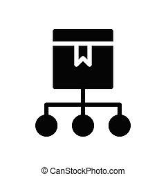 parcel glyph flat icon