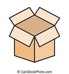 parcel line flat icon