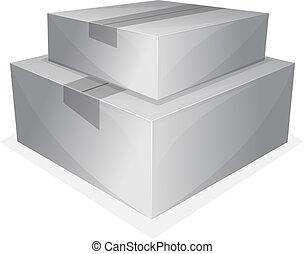 Parcel package - Vector illustration of pile parcel package ...