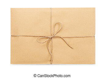Parcel post on a white background isolated