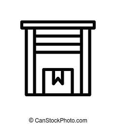 parcel thin line icon