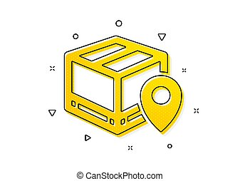 Parcel tracking icon. Delivery monitoring. Vector - Delivery...