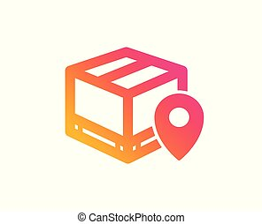 Parcel tracking icon. Delivery monitoring. Vector - Parcel ...