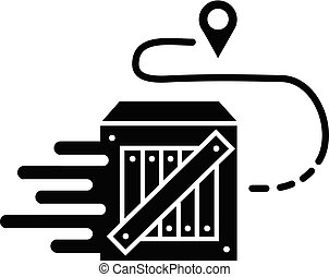 Parcel tracking icon, simple style - Parcel tracking icon. ...