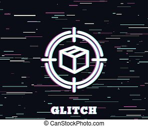 Parcel tracking line icon. Delivery monitoring. - Glitch ...