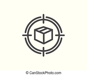 Parcel tracking line icon. Delivery monitoring. - Parcel ...
