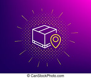Parcel tracking line icon. Delivery monitoring. Vector - ...