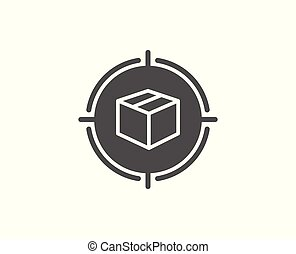 Parcel tracking simple icon. Delivery monitoring. - Parcel ...